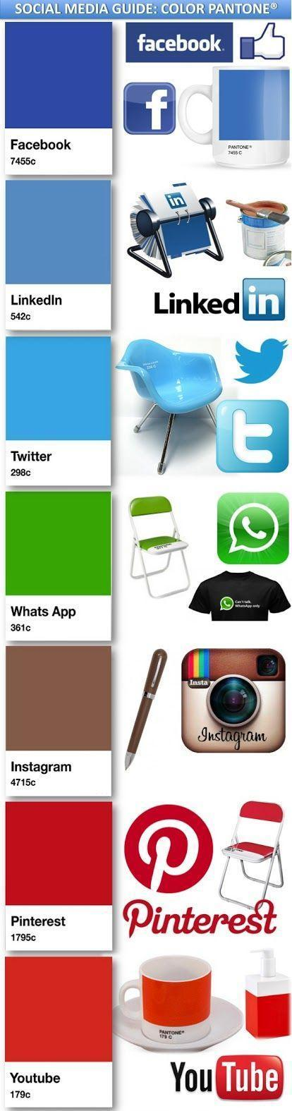 Social Media and App Pantone Colors. #Branding #Marketing #Infographic... | Social nEtwOrking news | Scoop.it