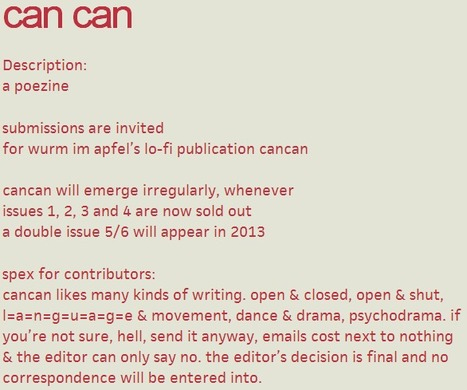 can can | poetry-data | Scoop.it