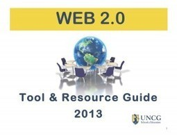 Web 2.0 Tool and Resource Guide 2013 « University of North Carolina at Greensboro | School of Education | Educational Leadership and Cultural Foundations | Language Learning: Digital tools and virtual spaces | Scoop.it