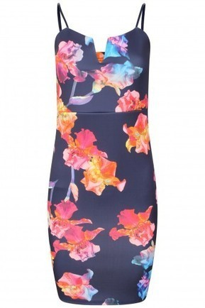 Multi Floral Print Plunge Cami Dress | Stylewise Direct | Women's Fashion Online | Scoop.it