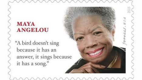 """Maya Angelou Forever Stamp Revealed by U.S. Postal Service"" 