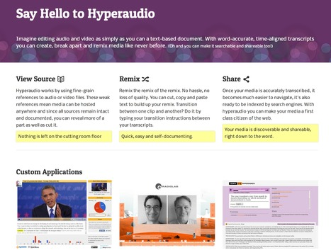@hyperaud_io: Making audio & video first class citizens of the web. | Emerging Digital Workflows [ @zbutcher ] | Scoop.it