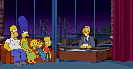 The Simpsons Farewell Funny Tribute to David Letterman | Articles | Scoop.it