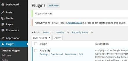 Comment ajouter Google Analytics sur votre tableau de bord WordPress avec le plugin Analytify | Time to Learn | Scoop.it