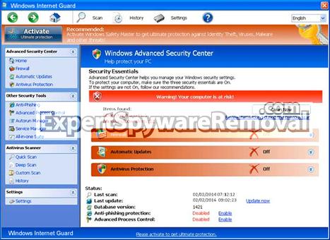 Remove Windows Internet Guard in 3 Easy Steps | Windows Internet Guard | Scoop.it