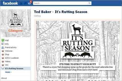 [CASE] Ted Baker launches 'rutting season' Facebook campaign | Social media news | Scoop.it