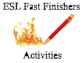 Fast Finishers Printables   ESL Kids Games   Teacher resources   Scoop.it