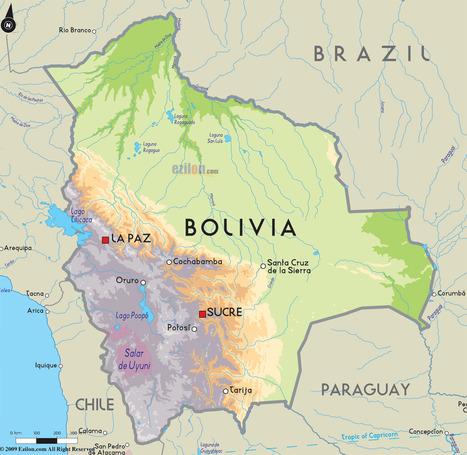 Road Map of Bolivia and Bolivia Road Maps   Bolivia, Savannah Brackett   Scoop.it