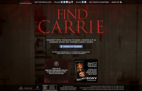 Un dispositif transmédia pour la promo du film Carrie | Stephen King Fr | Scoop.it