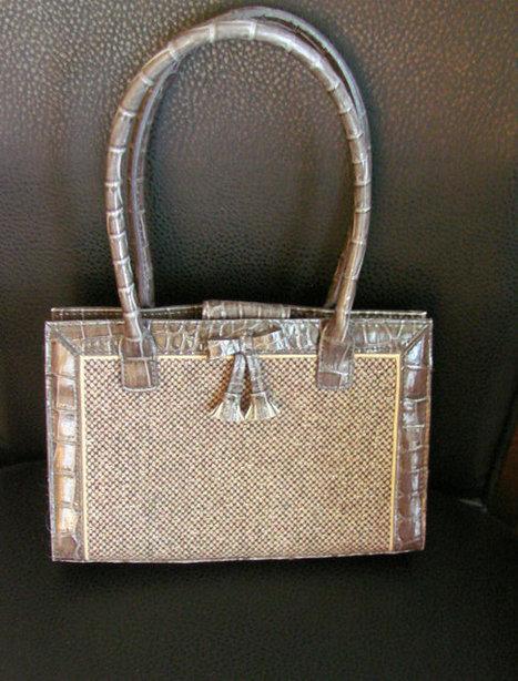 Vintage Liz Claiborne Designer Handbag Purse (Brown Tweed & Vinyl Leather) | Jewelry | Scoop.it