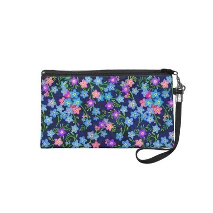 Forget Me Not Garden Flowers Bagettes Wristlet from Zazzle.com | Messenger Bags, Purses & Totes | Scoop.it