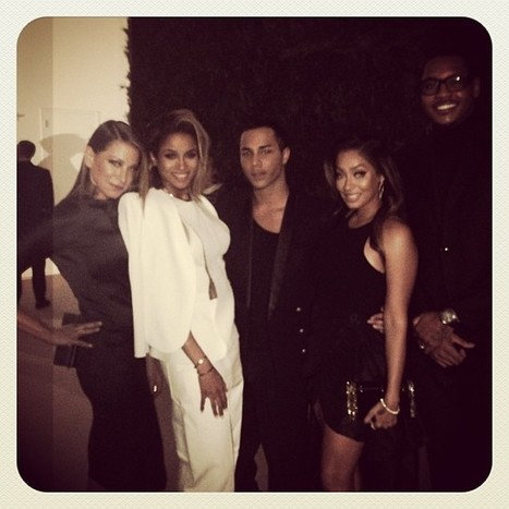LaLa & Carmelo Anthony, Ciara & Jourdan Dunn Hit The CFDA/Vogue Fashion Fund Dinner In NYC   The Young, Black, and Fabulous   fashion king   Scoop.it