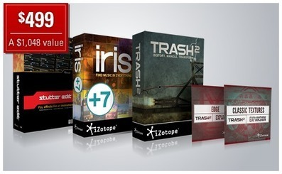 iZotope Bundles-now thru the end of the year save on your audio editing needs!