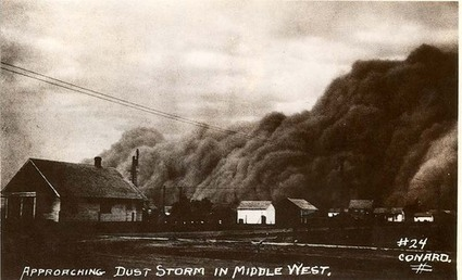 Approaching Dust Storm in Middle West - Kansas Memory | The Dust Bowl By Melissa K | Scoop.it