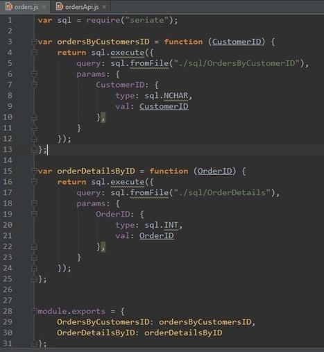 Seriate: The Glue Between SQL Server and Node.js   javascript node.js   Scoop.it