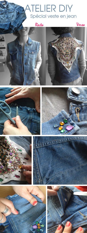 DIY veste en jean   KIABI Blog - Conseils mode - Tendances femme, homme, enfant - Coulisses de Kiabi   La mode en France   Scoop.it