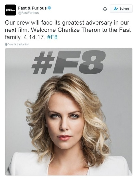 L'actu cinéma: Charlize Theron dans Fast and Furious 8 ! - Cotentin webradio actu buzz jeux video musique electro  webradio en live ! | cotentin webradio Buzz,peoples,news ! | Scoop.it