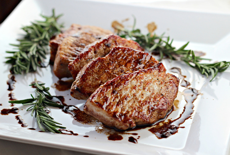 Pork Tenderloin Medallions with Balsamic Reduction | The Man With The Golden Tongs Goes All Out On Health | Scoop.it