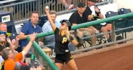 SEE IT: Pirates ballgirl catches foul ball with barehanded snare   SocialPsy.   Scoop.it