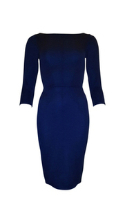 Navy V Back Sleeved Rib Dress | Buy Online | BeSaz Boutique | Ghana | Nigeria | Besaz Boutique | Scoop.it