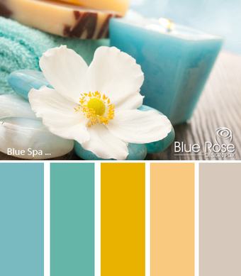 Color Inspiration: Blue Spa | Typography & Color Inspirations | Scoop.it