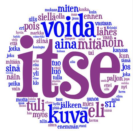 Suomen 100 yleisintä sanaa pilvenä | aforismeja ja runoja | Scoop.it