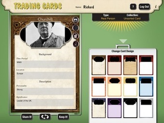 Free Technology for Teachers: Create Trading Cards for Historical and Fictional People, Places, and Events | Sheila's Edtech | Scoop.it