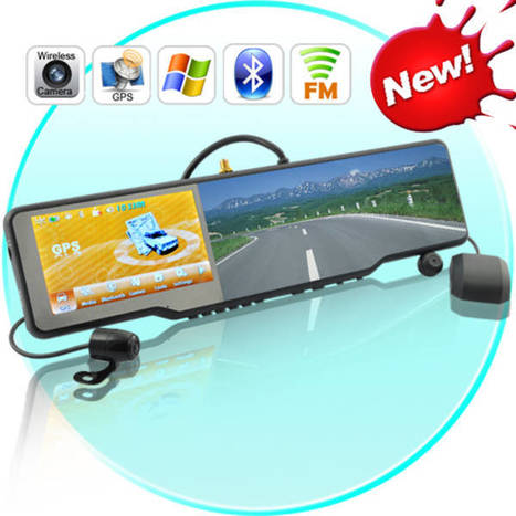 Rear-view mirror with built-in GPS, hands-free phone, camera, and video screen - Boing Boing | Psychology of Consumer Behaviour | Scoop.it