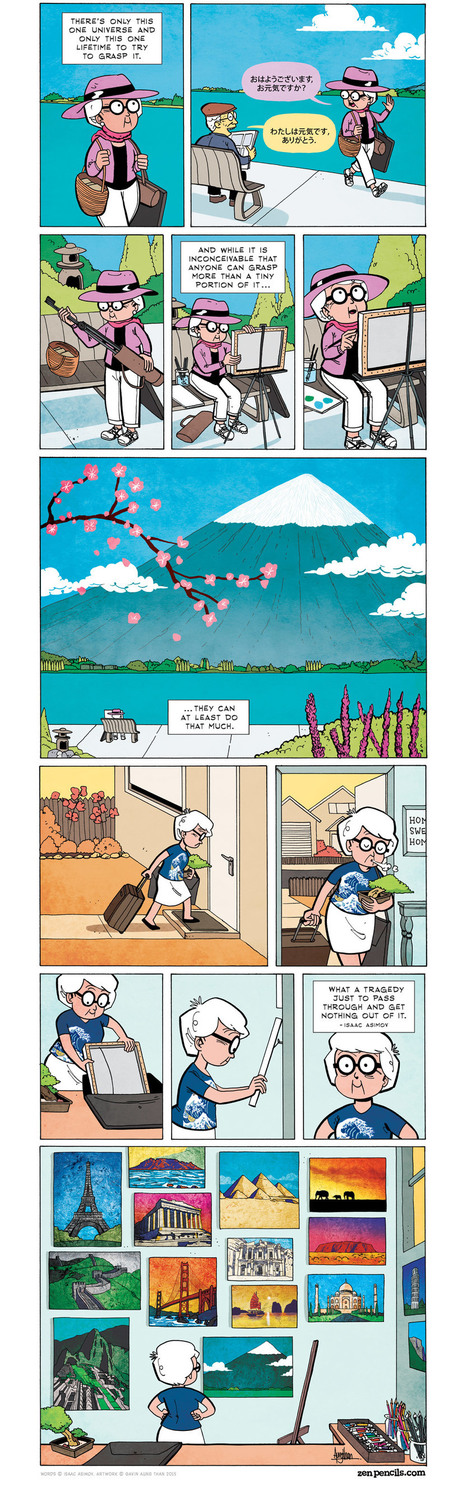 ZEN PENCILS » 172. ISAAC ASIMOV: A lifetime of learning | Inspiration | Scoop.it