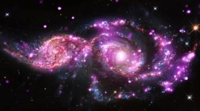 Deux galaxies fusionnent en direct | Science Actualités | Scoop.it