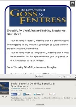 Get Social Security Disability Benefits with Goss & Fentress | Law Firms in Virginia, USA | Scoop.it