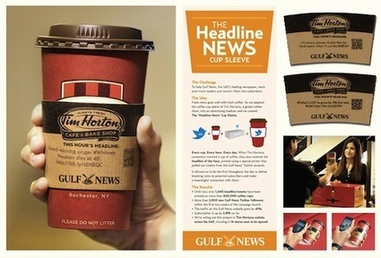 Ad Agency Rethinks Coffee Cup Sleeves As Newspapers - DesignTAXI.com | We are PR - 2.0 & beyond | Scoop.it