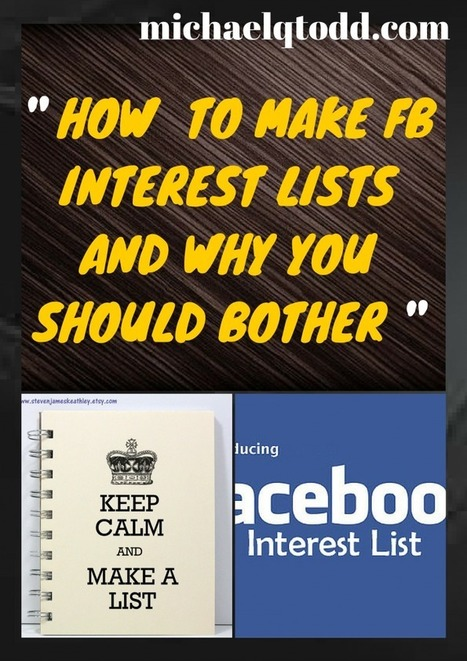 Why you should try Facebook Interest Lists instead of the Newsfeed | The Social Media Times | Scoop.it