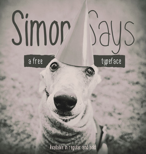A free handwritten typeface called simon says download it now | My Typefaces | Scoop.it