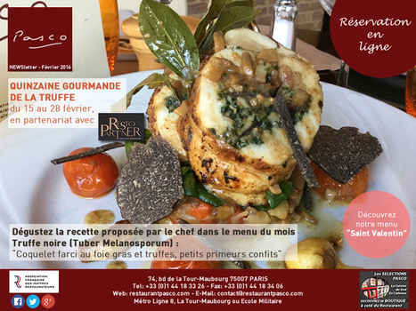 Pasco : Newsletter Février 2016 | RESTOPARTNER : des restaurants  de qualités à Paris - France | Scoop.it