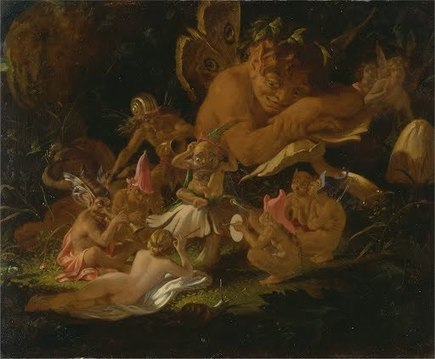 "Puck and Fairies, from ""A Midsummer Night's Dream"" 