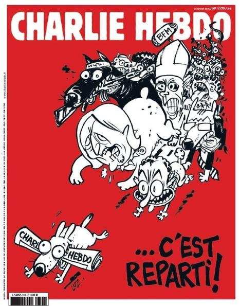 «C'est reparti !» à la une dunouveau «Charlie» | Les médias face à leur destin | Scoop.it