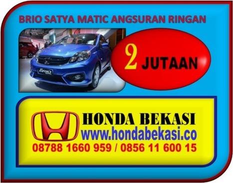 PROMO HONDA BRIO SATYA MATIC ANGSURAN RINGAN   Honda Bekasi   BERITA SATU MEDIA   Scoop.it