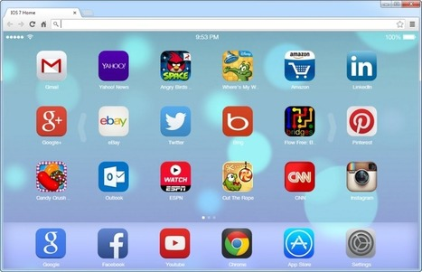 How to make Chrome's new tab page look like iOS 7 | Computer Technical Know How | Scoop.it