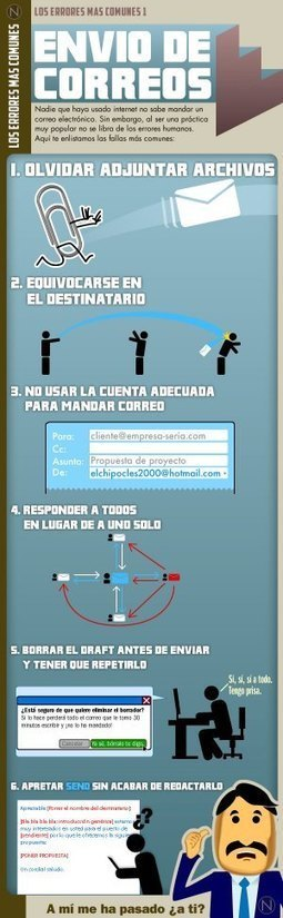 Los errores más comunes en el envío de correos electrónicos #infografia #infographic#internet | Educación a Distancia (EaD) | Scoop.it