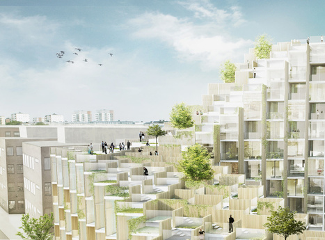 BIG's residences in stockholm include foliage-covered terraces | The Architecture of the City | Scoop.it