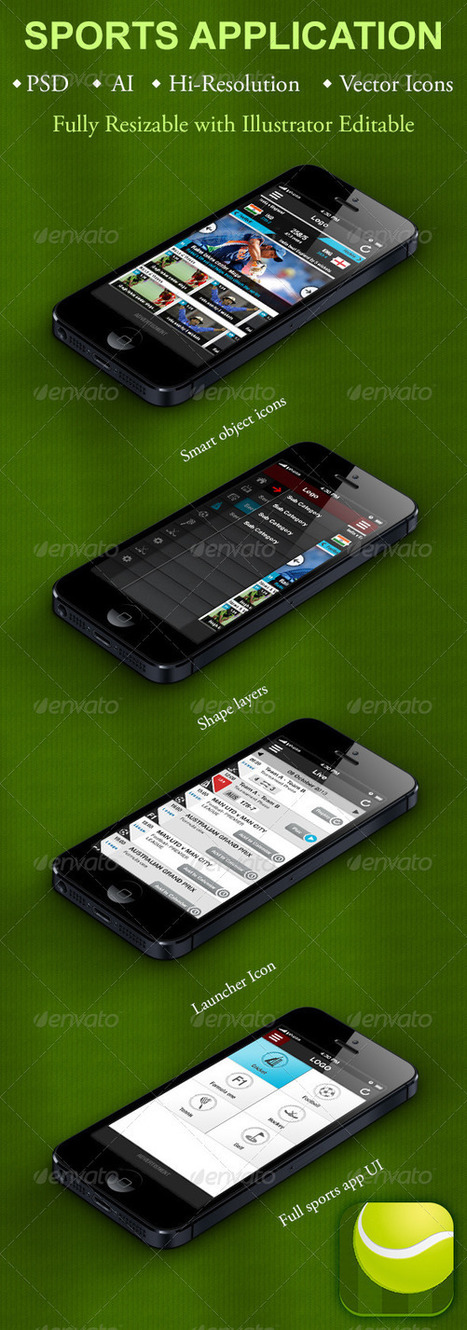 Sports Application for Smartphones (User Interfaces) | GFX Database | Graphics Share | Scoop.it