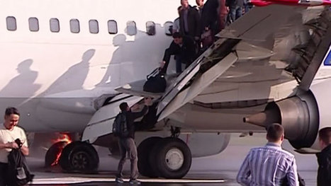 Plane with over 130 aboard catches fire on landing at Moscow's Vnukovo airport (VIDEO)   Breaking Alternative News   Scoop.it