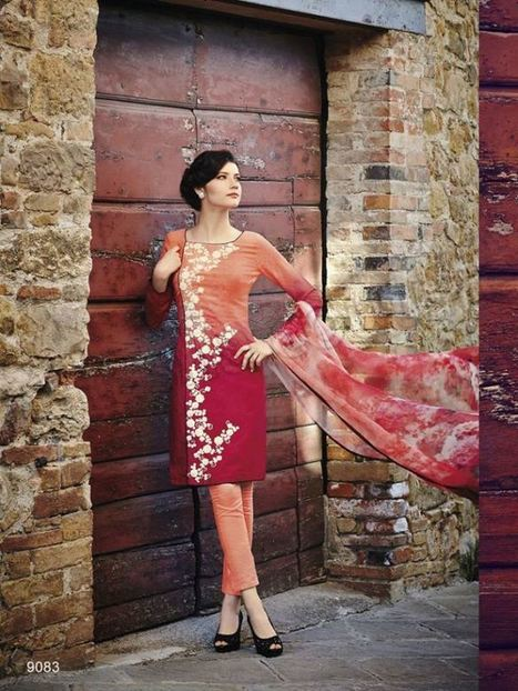 Natasha Couture Girls Modern Dresses | Style | Strawberry Chiffon RTW LZahra Ahmad Fall Winter Exclusive Collection 2013atest Collection 2013 For Ladies. | Scoop.it