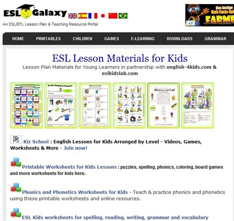 ESL Resources for kids, Young Learner TEFL Lesson plans | ESL Activities | Scoop.it
