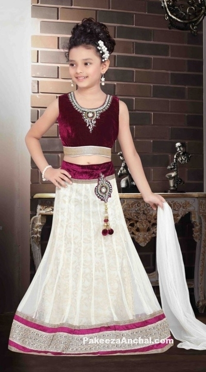 Kids Lehenga Choli Designs, Designer Velvet Lehenga Choli for Children | Indian Fashion Updates | Scoop.it