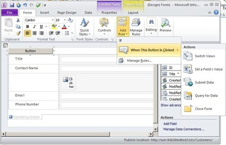 SharePoint Nirvana | Faking Ribbon Buttons on InfoPath List Forms | Nova Tech Consulting S.r.l. | Scoop.it