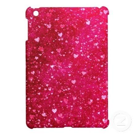 Pink Hearts Glitter iPad Mini Case   Adriane Designs   Scoop.it