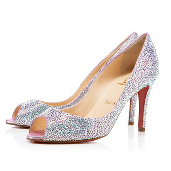 You You Strass Aurora Boreale 85mm Pumps [20131133] - $182.00 : bagbagsoutlets | bags outlet | Scoop.it