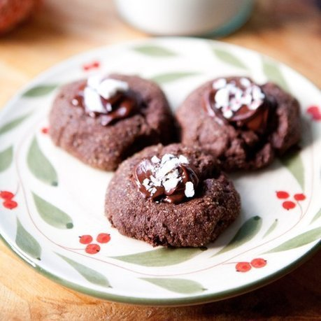 Triple-Chocolate Peppermint Thumbprint Cookies | MakeYourRecipes | Recipes | Scoop.it